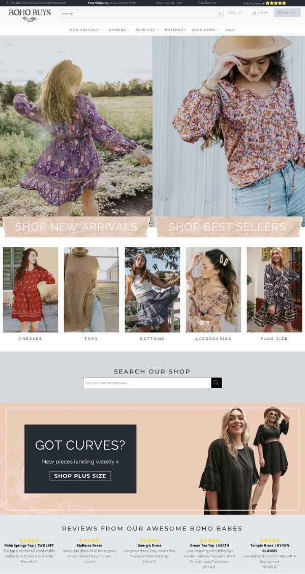 Shopify Case Study Boho Buys