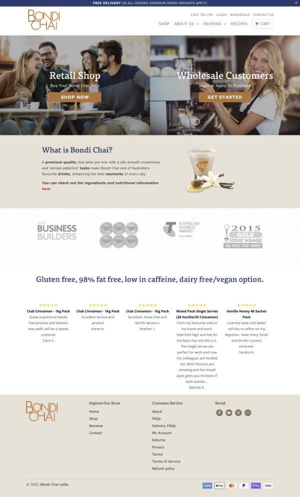 Shopify Case Study Bondi Chai